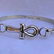 Sterling Silver Egyptian Ankh Bracelet