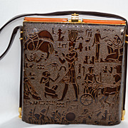 Vintage Designer Rosettia Egyptian purse Handbag