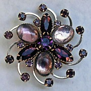 Vintage Purple Jelly Belly Swirl Pin  Brooch