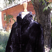Vintage Rare Seal Fur Coat Three Quarter Length Early 1900's