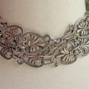 Vintage Sterling Silver Taxco Mexican Belt Necklace