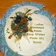 Victorian Christmas Greeting Card Silk Fringe