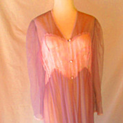 Vintage Large Sheer Lingerie Robe Nightgown Lace