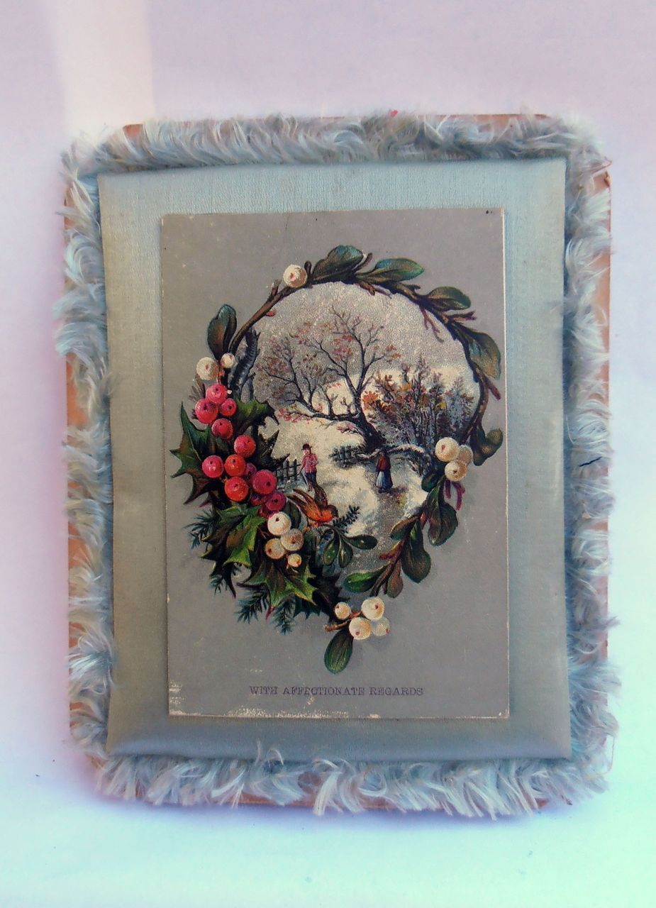 Antique Victorian Christmas Easter Card Greeting