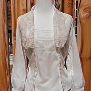 SALE PENDING Victorian Edwardian White Lace Blouse Antique
