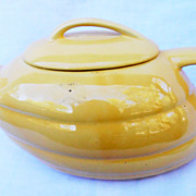 Vintage Aladdin Yellow California Pottery Streamlined Teapot by Bauer Los Angles