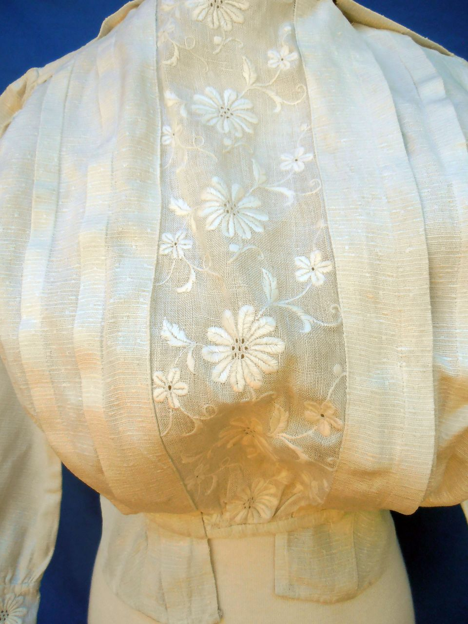 Vintage Hand Tailored White Edwardian Top Blouse