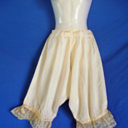 Antique Victorian Silk Bloomers, Pantaloons, Knickers.