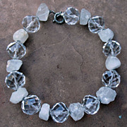 Artisan Large Crystal Sterling Silver Quartz Crystal Necklace
