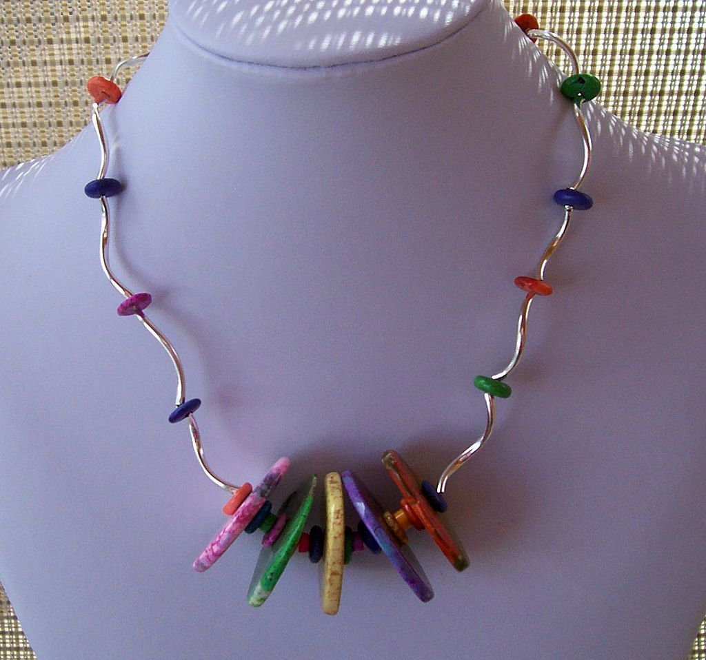 Squiggly Summer Necklace full of color and pizzazz
