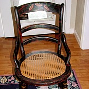 REDUCED Grain painted and decorated Pennsylvania cane seat chair