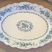 "SOLD Grindley ""Eileen"" Serving Platter Blue Green Transferware"