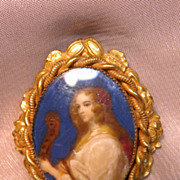 Vintage Victorian Portrait Pin by Robert