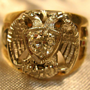 10K Yellow Gold 32nd Mason Ring