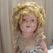 "Authentic 16"" Shirley Temple Composition Doll"