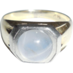 Antique Platinum and Gold Blue Gray Star Sapphire Ring 6.4gr Size 7  Mens or Womens