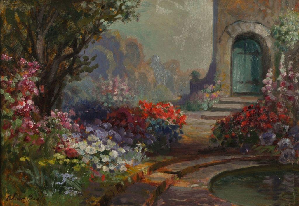 Garden Scene Painting