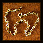 14K Yellow Gold Heavy Rope Bracelet Circa 1980's Size 7 1/4