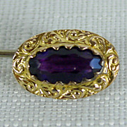 Antique Amethyst Glass Stick Pin