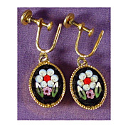 Micro Mosaic Dangle Earrings