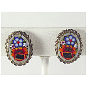 Italian Micro Mosaic Earrings