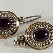 Mozambique Garnet Earrings in Sterling Silver
