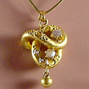 Antique 18K YG Pendant with MOP