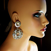 Claire Deve Couture Earrings Designed for Claude Montana