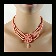 Natural Coral Necklace Replica by Franklin Mint & MGM, GWTW