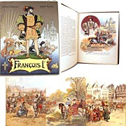 "Antique French Binding, ""Francois 1er""  (illustrated by Robida) circa 1909"