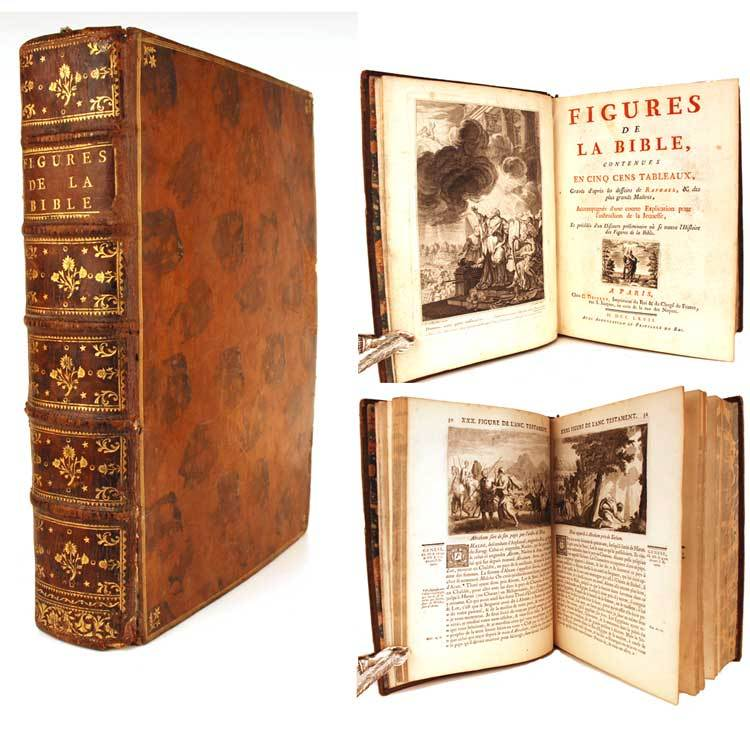 "Rare Antique Eighteenth Century French Binding, ""Figures de la Bible"" circa 1767"