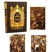 "Antique Nineteenth Century French Romantic Binding, ""Les Petits Guerriers"""