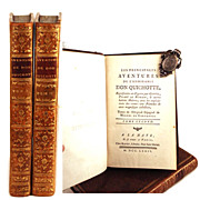 "SOLD Rare French Bindings, ""Les Principales Aventures de Don Quichotte"" circa 1774"