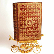 Antique Seventeenth Century French Royal Binding (arms of Marie-Therese, wife of Louis XIV): ""