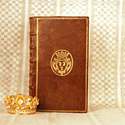 "Antique Eighteenth Century Armorial French Binding ""Le Spectateur"" circa 1720"