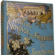 SOLD Antique French Book: Nouveau Voyage de France circa 1899