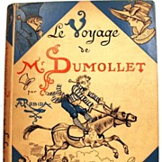 Antique French Book: Le Voyage de Mr. Dumollet, illustrated by Robida,  circa 1883