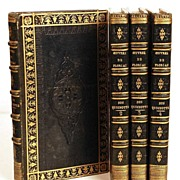 SOLD Antique Nineteenth Century French Books: Oeuvres de Florian; Don Quichotte circa 1820