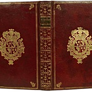 "Rare Antique Eighteenth Century French Armorial Binding: ""Poesies Sacrees"" circa 177"