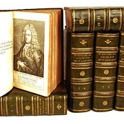 "Rare Antique Eighteenth Century French Books: ""Histoire du Regne de Louis XIV"" circa"