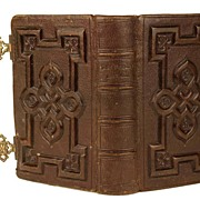 "Nineteenth Century French Book with Bronze Closures: ""Paroissien Romain"" circa 1860"