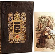 "SOLD Antique Nineteenth Century French ""Romantic Binding"": ""Merite des Enfants"""