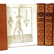 "Antique Nineteenth Century French Bindings: Lecons de Physique Experimentale"" circa 1764-"