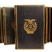 "Antique French ""Prize Bindings"": ""Oeuvres de J. Delille""   circa 1824"