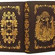 "SOLD Antique French Romantic Binding, """"Tableau de La Creation"" circa 1846"