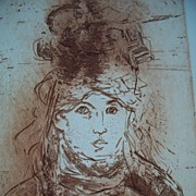 """HOMAGE TO MANET"" ,artist :Jack Coughlin,signed original etching"