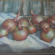 Still Life Pastel, 1950s American art