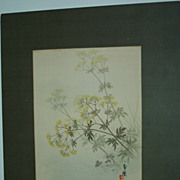 Mustard Plant  Japanese print   Vintage