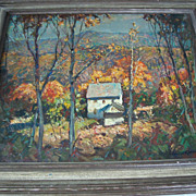"William Lester Stevens, Impressionist  "" Looking to Monadnock """