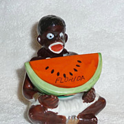 Vintage Black Americana Native Sambo Nodder Sat and Pepper Shaker RARE
